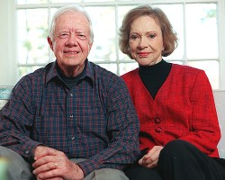Former President Jimmy Carter and Lifetime Companion  Rosalynn Carter