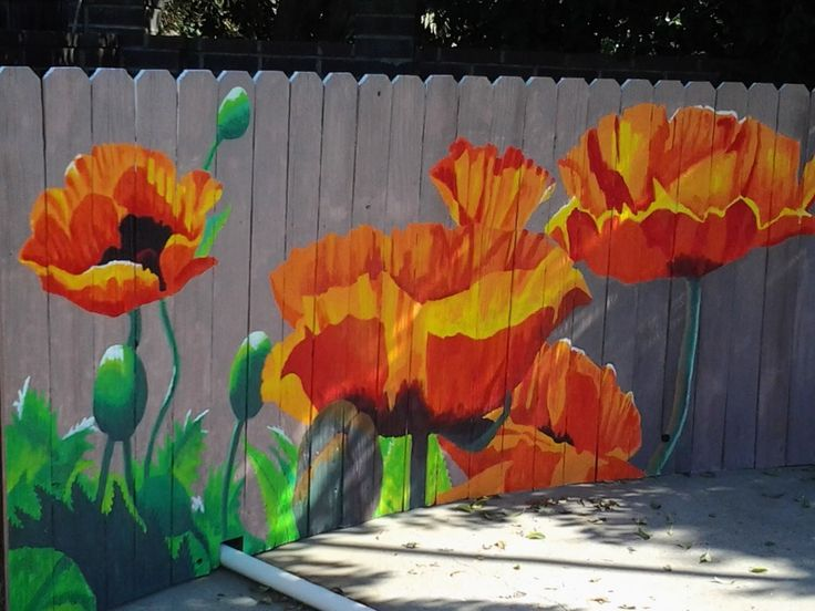 Alice Walkers Garden photo Fence with Painted Flowers
