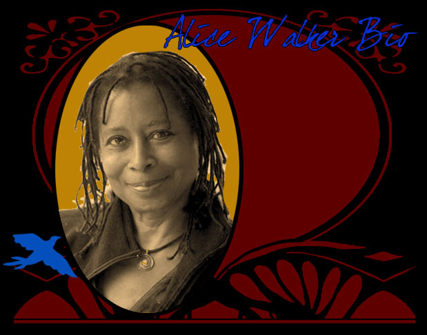 Alice Walker Bio Photo Framed with Design