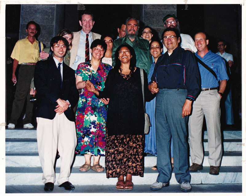 Alice Walker Fidel Castro photo from 1990s