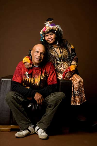 Ruby Hunter with Archie Roach Alicewalkersgarden.com