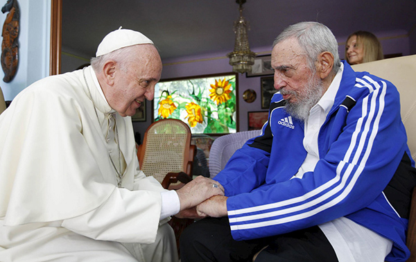 The Pope and Fidel Castro 2015 Alice Walker AliceWalkersGarden.org