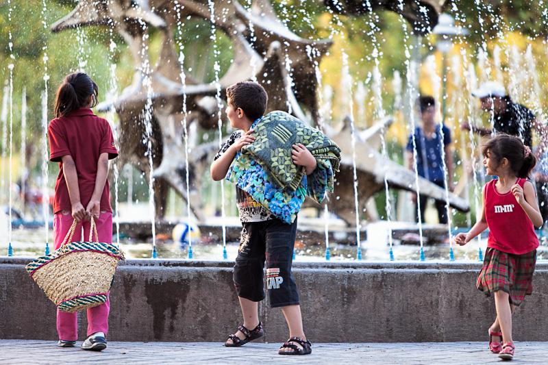 Surprised Iranian children