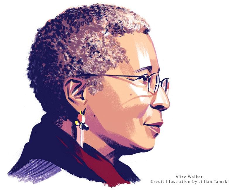 Profile Illustration of Alice Walker by Jillian Tamaki 2018-12