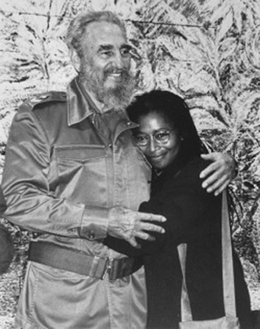 Fidel Castro and Alice Walker Together (copyright 2016)