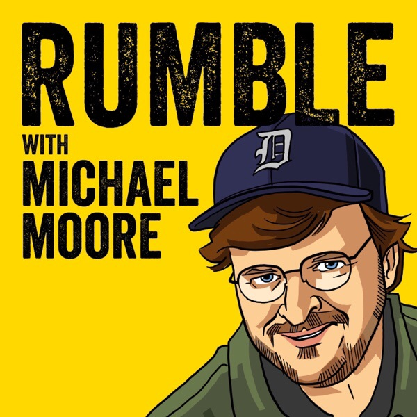 Poster Yellow background illustration of Michael Moore