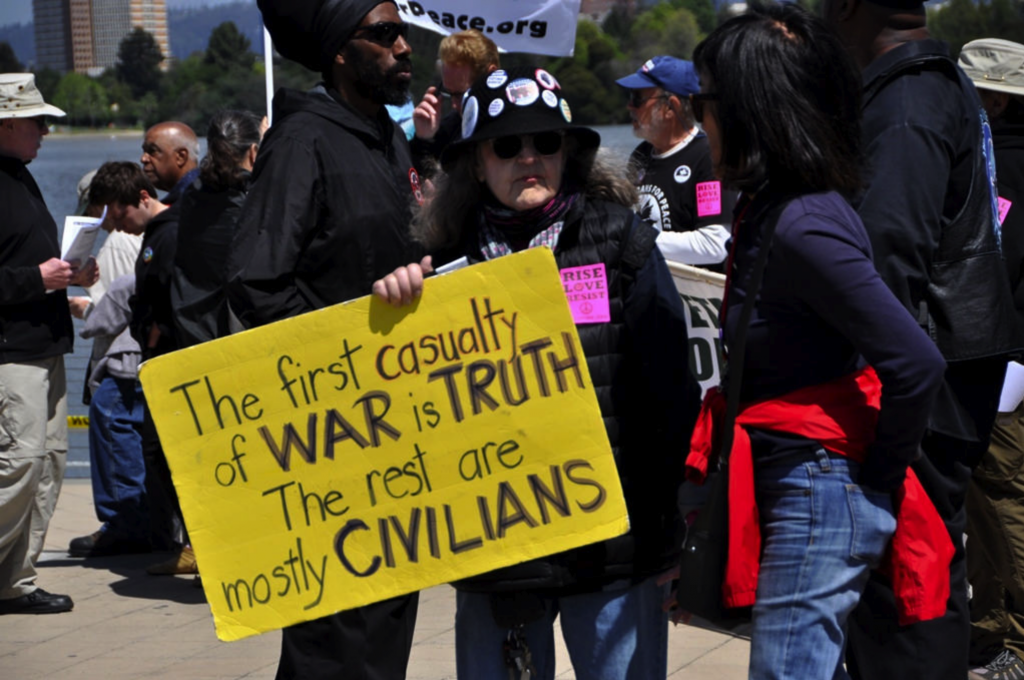 Oakland CA US Syria War Protest 2018-04-15
