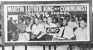 Poster of Martin Luther King at Highlander Folk School Auditorium