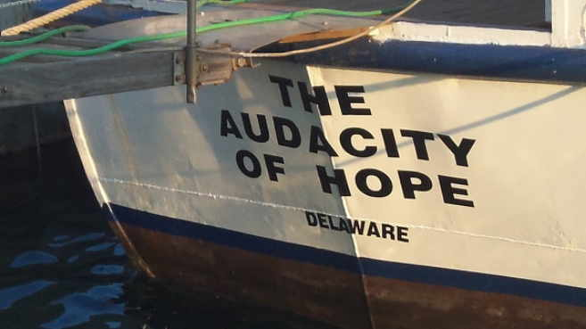 Flotilla US Boat Athens Audacity Hope Alice Walkers Garden
