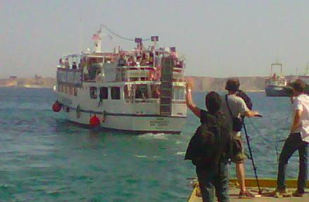 Flotilla2 US Boat Athens Audacity Hope Alice Walkers Garden