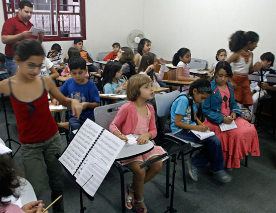 Gaza Music School Students