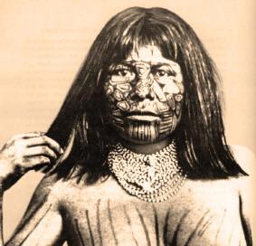 Mojave Woman Face Tattoos